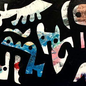 Merijn Kavelaars, Donker, 2019, Mixed media on canvas, 73 x 150 cm