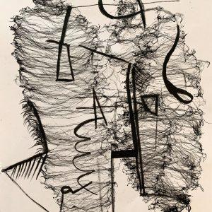 Merijn Kavelaars, HK Untitled C01, 2019, Mixed media on acid free recycled paper, 42 x 29 cm