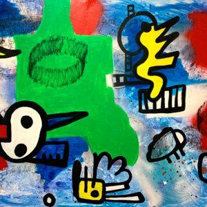 Merijn Kavelaars, Insind 02, 2016-2019, Mixed media on canvas, 193 x 102 cm