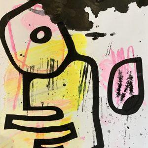 Merijn Kavelaars, HK Untitled C02, 2019, Mixed Media on acid free recycled paper , 42 x 29 cm