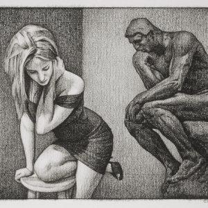 Christopher Parrott, Great Divide, 2012, Charcoal on paper, 60 x 50 cm